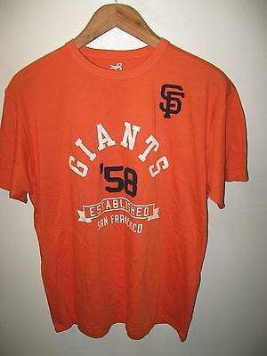 new arrival 36dbd 3941c San Francisco Giants Tee - MLB Baseball Team '58 Embroidered Applique T  Shirt M | eBay