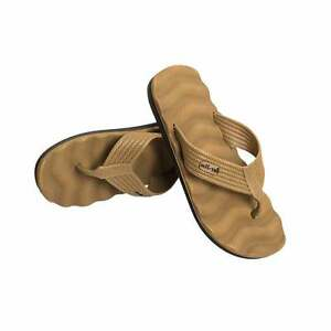 Mens Hiking Beach Swimming Shower Army Military Walking Flip Flops Sandals Tan