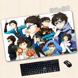 Anime YURI!!! on ICE Otaku Cosplay Black Big Mouse Mat Gaming Pad 40*70cm #GM77