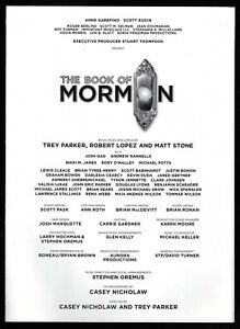The book of mormon cast list