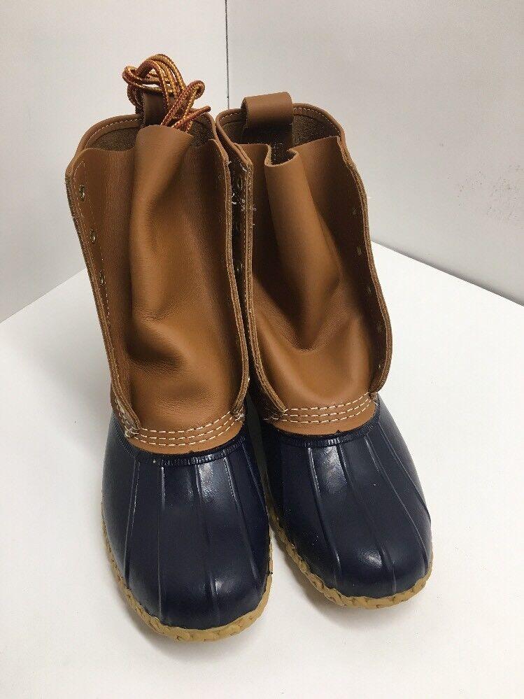 Women's Bean Boots by L.L.Bean 8  Tall Size  8 Medium. Tan  Navy