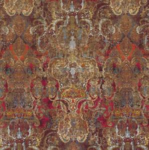 Maroque Cinnabar Fabric RRP £147m Romo Black Edition 9035//02