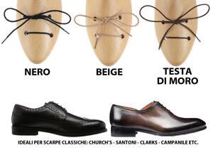 6643544ea6 Dettagli su Lacci in cotone cerato per scarpe classiche ideali per  church's, santoni etc.