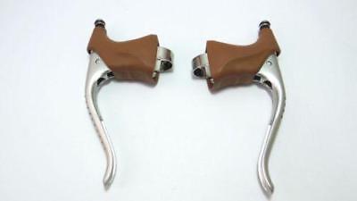 brown hoods Non-aero Brake levers GC202H Gran compe Retro Dia compe