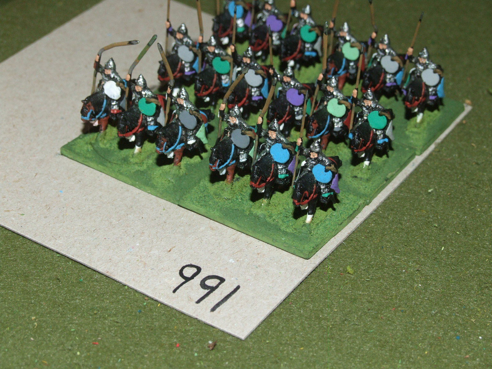 15mm medieval   asiatic - 18 Heavy Cavalry - cav (A991)