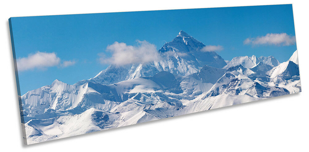 Mount Everest Mountains Picture PANORAMA CANVAS WALL ART Print