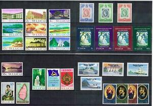 ST LUCIA - SELECTION OF SETS MINT NEVER HINGED (3 SCANS)