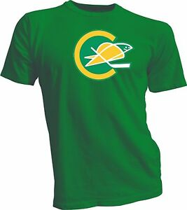 CALIFORNIA GOLDEN SEALS DEFUNCT NHL HOCKEY VINTAGE STYLE Green T-SHIRT NEW