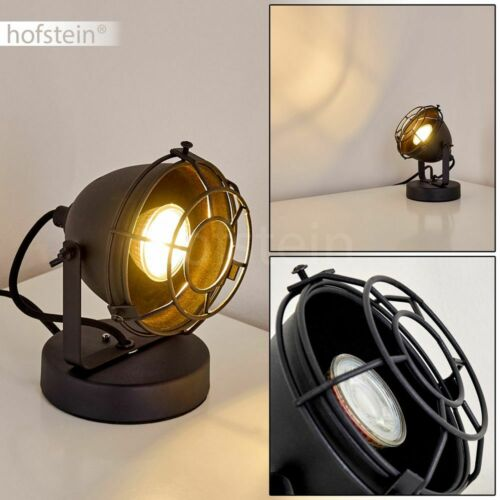schwarze Vintage Nacht Tisch Lampen Wohn Schlaf Zimmer Beleuchtung Lese Leuchten