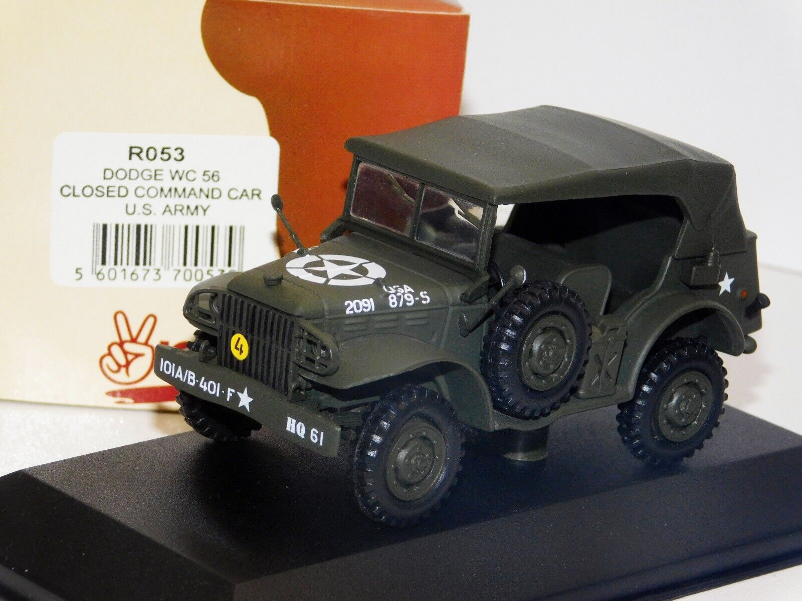 Dodge WC56 coche cerrado De Comandos US Army victoria militar R053 1 43