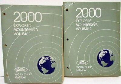 2000 Ford Explorer Mercury Mountaineer Shop Service Repair Manual Book Guide OEM
