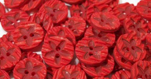 10 pcs enfants boutons environ M fleur Motif Boutons Bouton Couture 1017 1stk//0,12 €