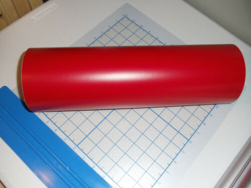 "Wall//Scrap//Hobby etc. Cardinal Red Vinyl 15/"" Roll Sheet Series 3 Matte Vinyl"