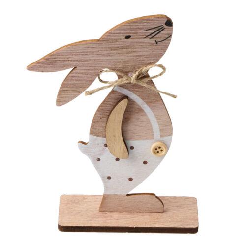 Bunny Wooden Decoration Easter Rabbit Home Accessories Desktop Ornaments