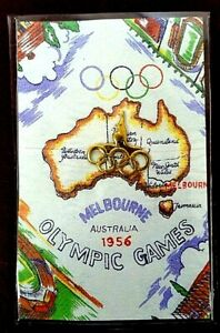 Vintage-1956-Melbourne-Olympic-Badge-Pin-Australian-Kangaroo-Original
