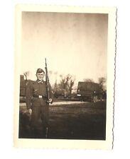 Altes Foto Bild Deutsches Reich 2. Weltkrieg Soldat Gewehr LKW [472]