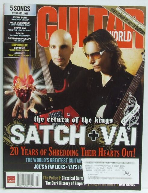 Joe Satriani Steve Vai Guitar World Magazine The Police AC/DC October 2007 RARE!