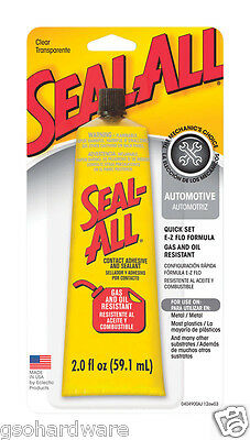 SEAL-ALL 2oz Gas And Oil Resistant Contact Adhesive # 380112  NEW!