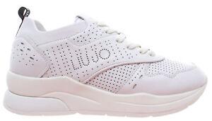 Dettagli su LIU JO Milano Karlie 14 Sneaker Calf Leather White Bianco Scarpe Donna Nuove New
