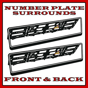 2x Chrome Car Number Plates Surrounds Holder For VW New Beetle