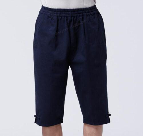 Summer Cotton Kung Fu Martial Arts Bruce Lee Wingchun Casual Short Pants Men New