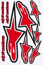 RED alpinestars logo Moto-GP Helmet Vinyl Sticker Car Bike Truck Kits Decals