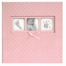 Innova 50 Page Baby Girl Pink Polka Dot Book Bound Traditional Album