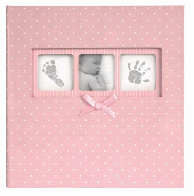 Baby Girl Photo Album Polka Dot Pink Photo Album Holds 200 Photos with Memo Area