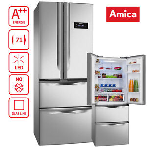 Kühlschrank FrenchDoor A++ Amica KGC15803 E Edelstahloptik NoFrost LED-Beleucht.