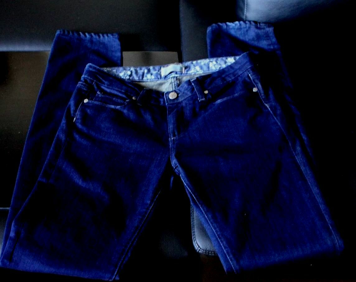 PAIGE SIZE 27 INK COLOR 0248-0077N SKYLINE DRIVE CLASSIC RISE JEANS PANTS SKINNY