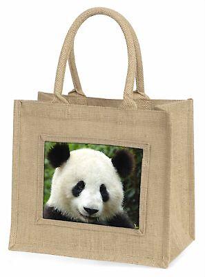 Gesicht eines Riese Pandabär Große natürliche jute-einkaufstasche Weihnachten G,