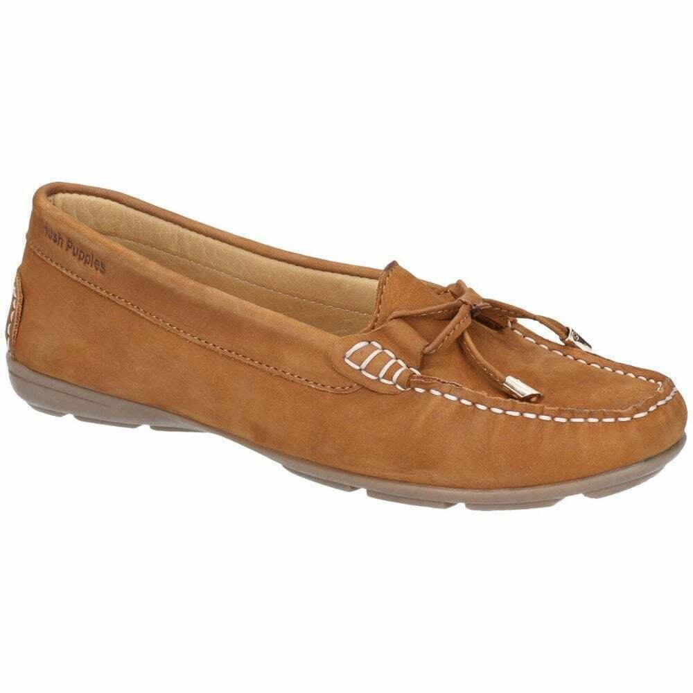 Hush Puppies Maggie Women's Toggle shoes Tan Size New UK