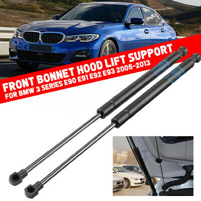 2x Front Hood Strut Lift Support Spring Shock For BMW 3 Series E90 E91 E92 E93