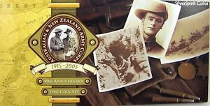 2005-ANZAC-039-S-90TH-ANNIVERSARY-TWO-Coin-Set-on-Card