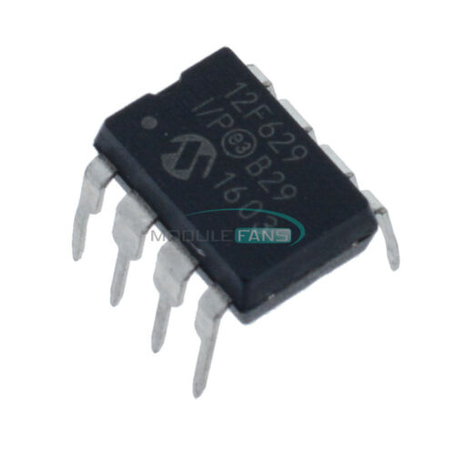 1X PIC12F629-I//P PIC12F629 12F629-I//P DIP-8 Microcontroller CHIP IC