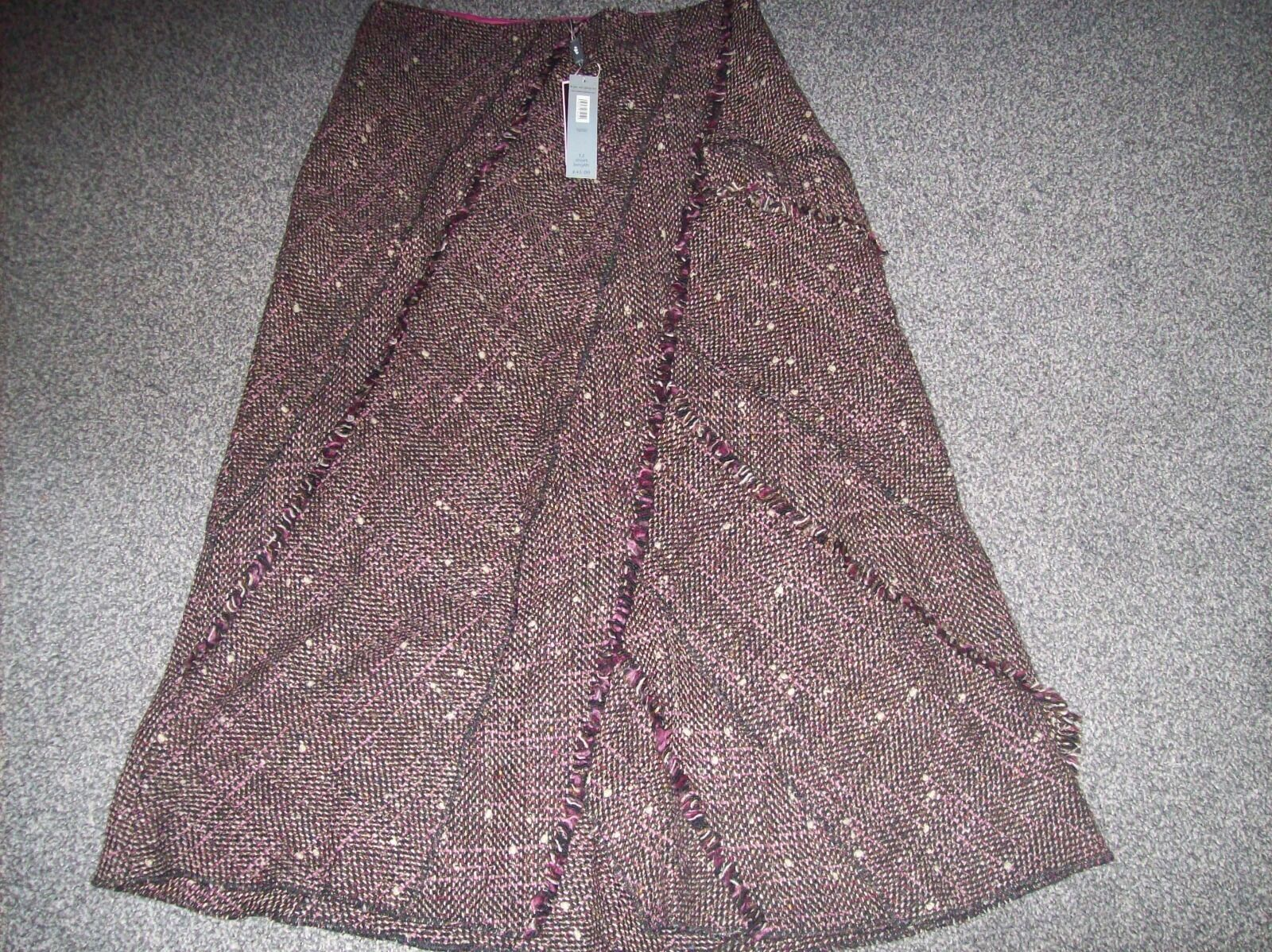 STUNNING HEAVY WOOL MIX SKIRT FROM PER UNA...BNWT..OF ...SIZE 12