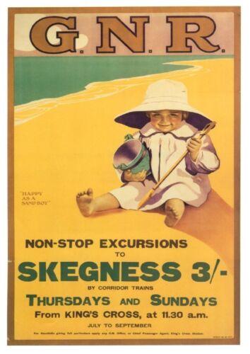 198 Vintage Railway Art Poster Skegness