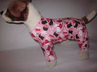Dog Clothes/valentine's Day Every Day Heart/pink/black/red/white Flannel Pajamas