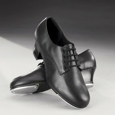 Capezio CG54 Cuban Heel Black Leather Oxford Tap Dance Shoes UK 2 3 4 5 6 7 8