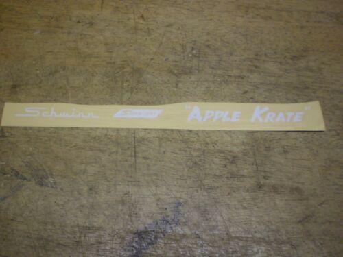 Schwinn Stingray Apple Krate Peel /& Apply Vinyl Chainguard Decal