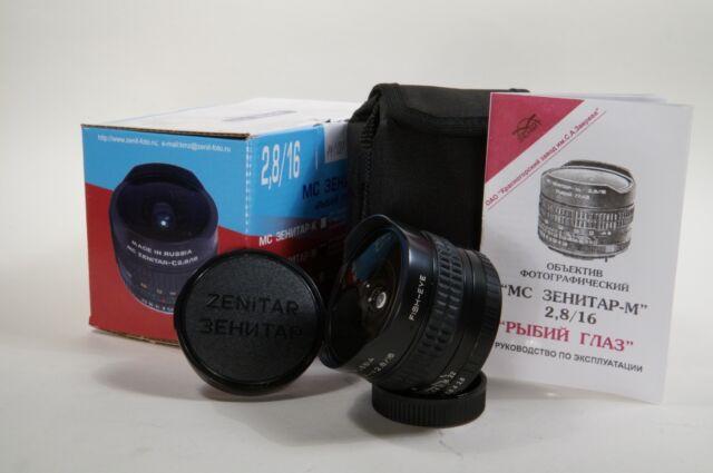 Brand New! lens MC Zenitar-m 2.8/16 Sony E-mount Sony-NEX  Fish Eye