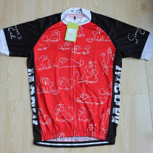 Simon/'s Cat Red Cycling Jersey Short Sleeve