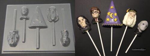 HARRY POTTER FRIENDS Wizard Hat Chocolate Candy Lollipop Mold
