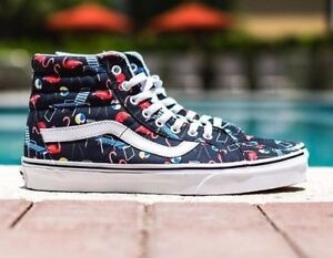 Vans-Sk8-Hi-Reissue-Pool-Vibes-Black-True-White-Beach-Flamingo-Men-039-s-Sneakers