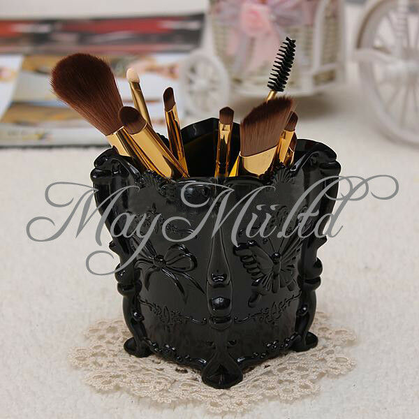 Hot Makeup Cosmetic Storage Box Case Holder Brush Pen Organizer Decorative O