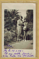 Carte Photo vintage RPPC Maroc Fez Fès femme chapeau robe mode fashion pz0180