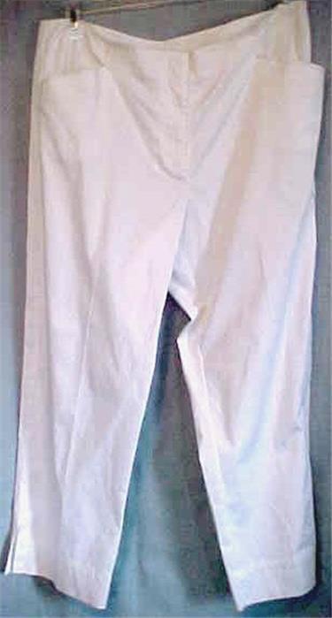 Ladies Size 16P White Pants 16 Petite Cotton & Spandex Summer