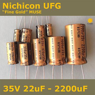 470uf 50V Nichicon UFG Fine Gold Electrolytic Capacitor High Quality Audio