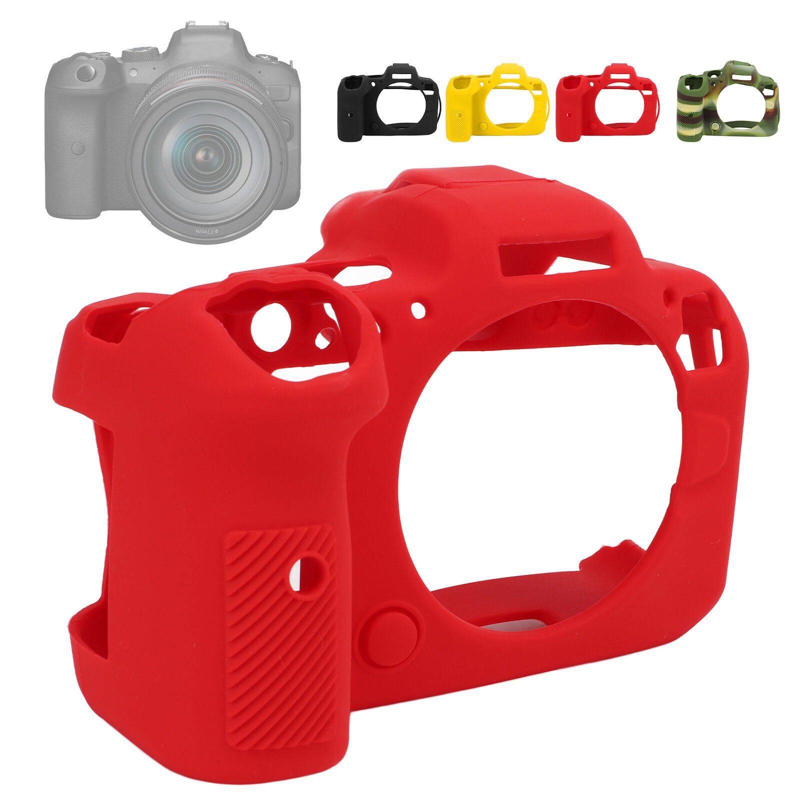 Camera Protective Case Stretchable Scratch Resistant Washable for Canon EOS R6