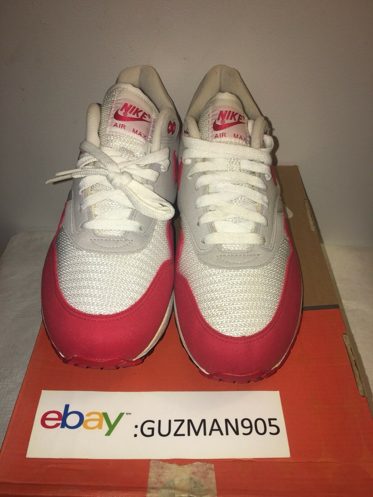 2005 Nike Air Max 1 Classic HOA Varsity Rouge Taille 9 313097 161 Patta Atmo Mesh 87